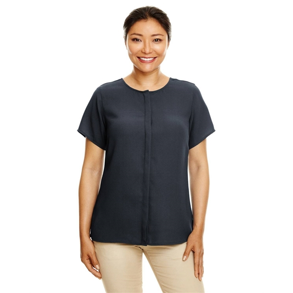 Devon & Jones Ladies' Perfect Fit™ Short-Sleeve Crepe Blouse