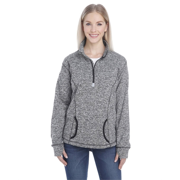 J America Ladies' Cosmic Fleece Quarter-Zip