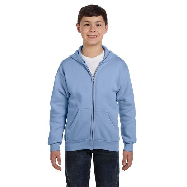 Hanes Youth EcoSmart® 50/50 Full-Zip Hooded Sweatshirt