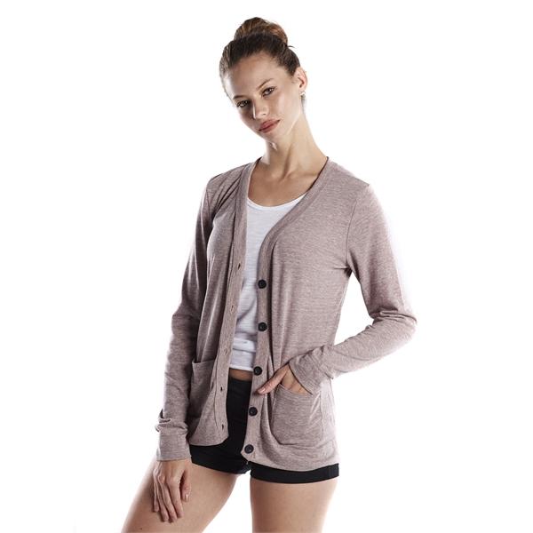 US Blanks Ladies' 4.9 oz. Long-Sleeve Cardigan