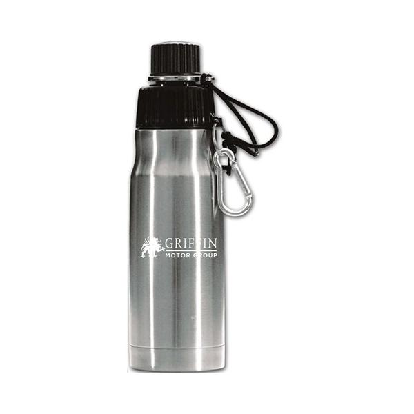 Stainless Steel 20 Oz Bottle W/Carabiner