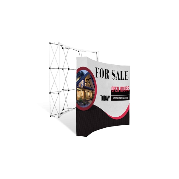 8 Foot Expandable Curved Banner Wall - Fabric Only