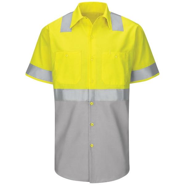 Red Kap® Men's Hi-Visibility Ripstop Work Shirts