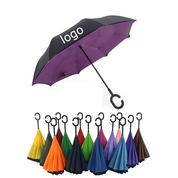New C- Shaped Handle Reverse Umbrella
