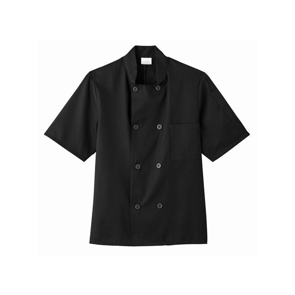Five Star Chef Apparel Short Sleeve Chef Jacket (Black)