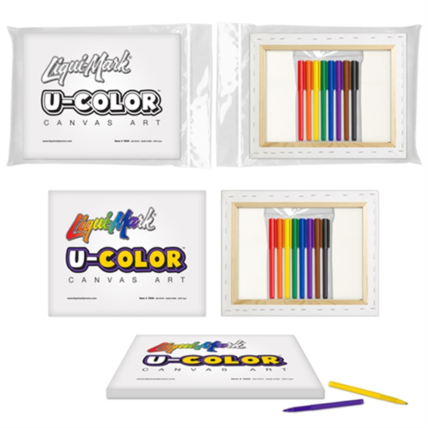 U-COLOR Canvas Art + 8 Color Marker Set