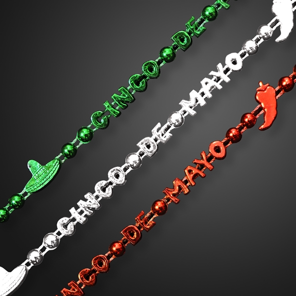 Little Chili Pepper Party Beads for Cinco de Mayo