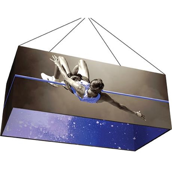 Rectangle 8' x 4' Hanging Structure & Double Sided Graphic