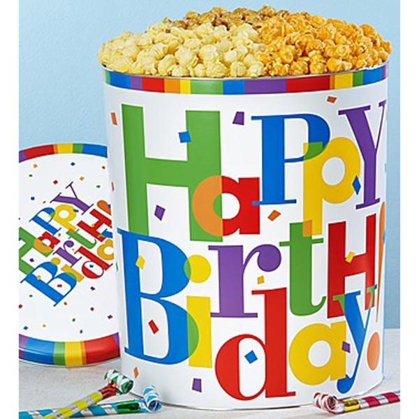 TPF Big Birthday Popcorn Tin - 3 Way 3.5G