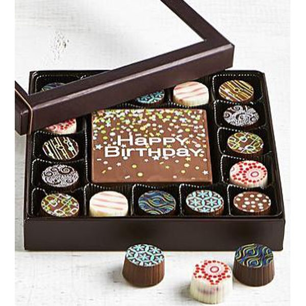 Smply Choc Birthday Bar & Truffles 17pc