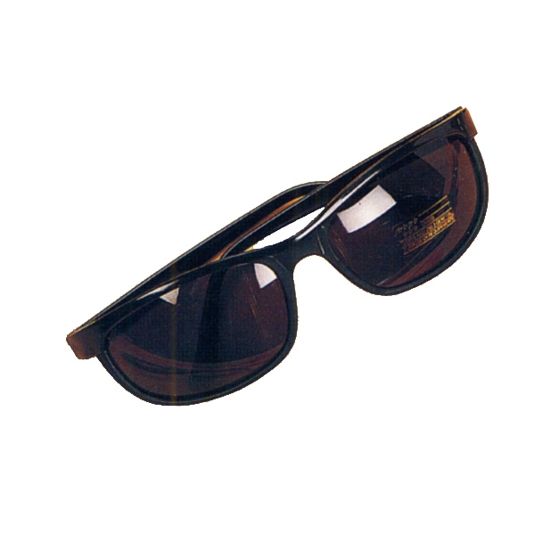 Men In Black Style Sunglasses With Curved Black Frame Photo