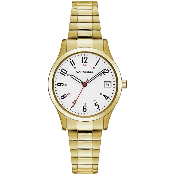 Caravelle Women's Gold-Tone Stainless Steel Expansion Watch