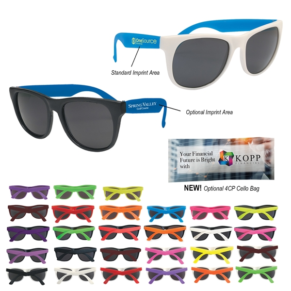 Rubberized Sunglasses - Rubberized sunglasses made of recycled material.