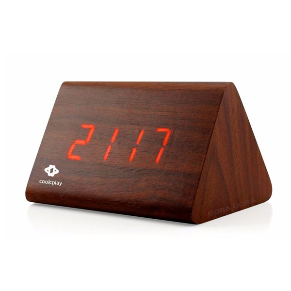 Wooden Clock Triangle-Shape
