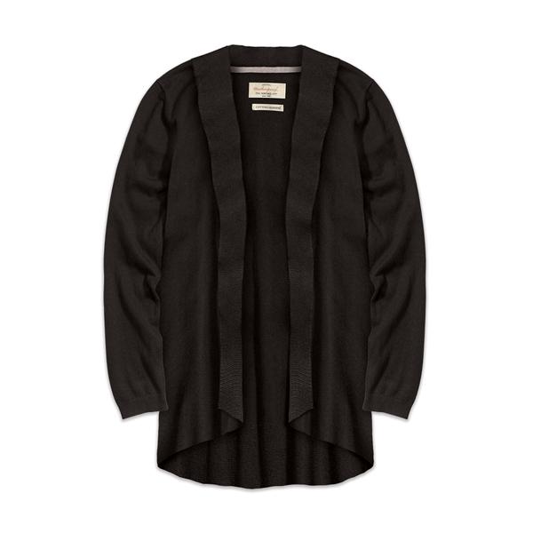 Ladies' Cotton Cashmere Open Front Cardigan