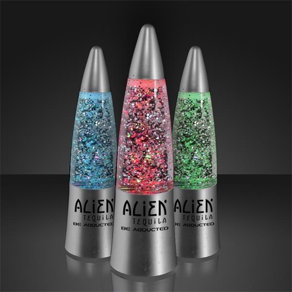 Imprintable Glitter Rocket Lamp