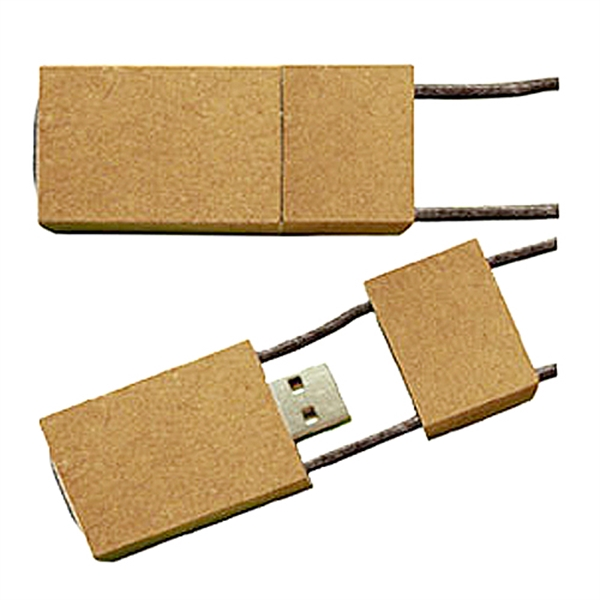 Eco Paper Lanyard Flash Drive