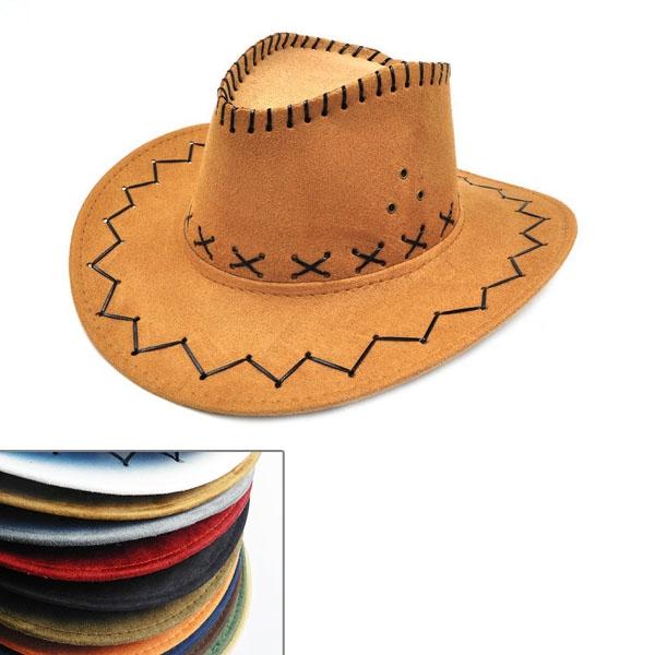 Faux Leather Cowboy Hat