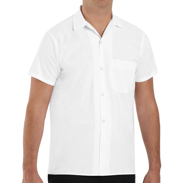Red Kap Men's Button-Front Cook Shirt