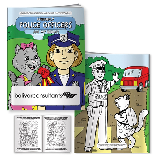 Coloring Book: Friendly Police Officers