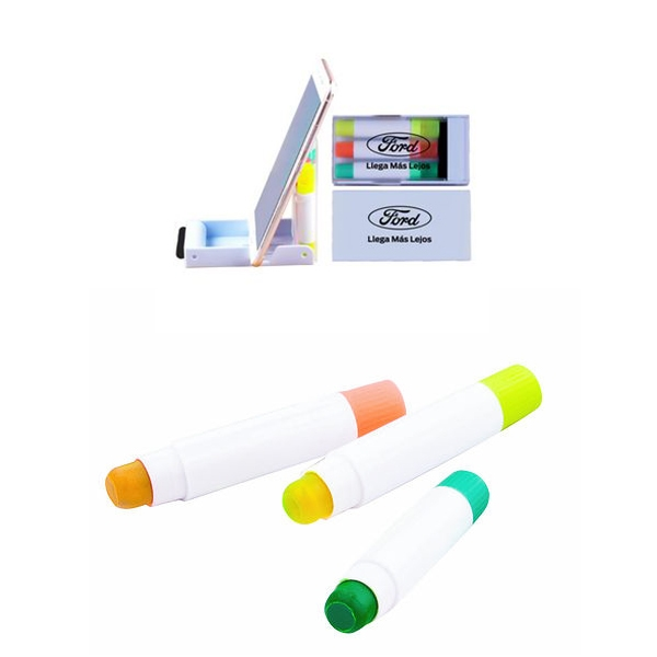 5-in-1 Highlighter with Phone Stand and Screen Cleaner