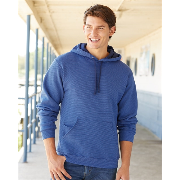 Fruit of the Loom Sofspun® Microstripe Hooded Pullover Sw...