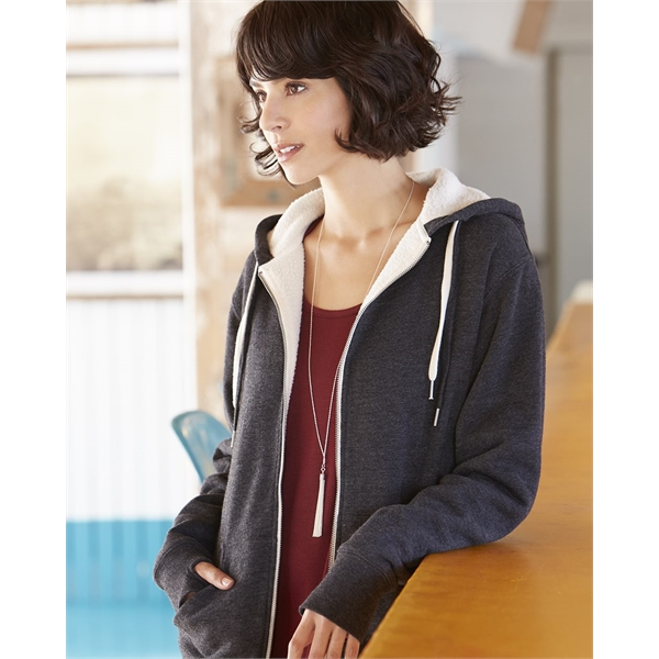 Independent Trading Co. Unisex Sherpa-Lined Hooded Sweats...