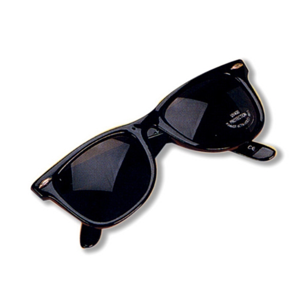Original Blues Brothers Style Sunglasses, Polished Black Frame With Uv Lens Photo