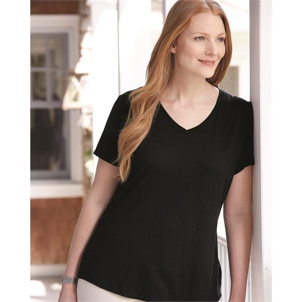 Just My Size Women's V-Neck Short Sleeve T-Shirt