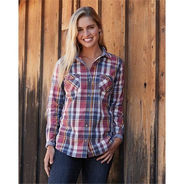 Weatherproof Women's Vintage Plaid Long Sleeve Shirt