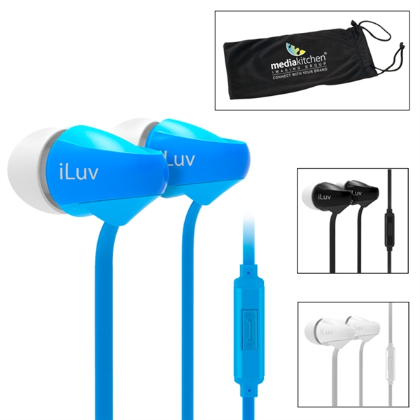iLuv® Tangle-Resistant Earbuds with Microphone