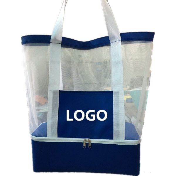 Beach Bag with Insulated Bottom, Cooler Tote Bag