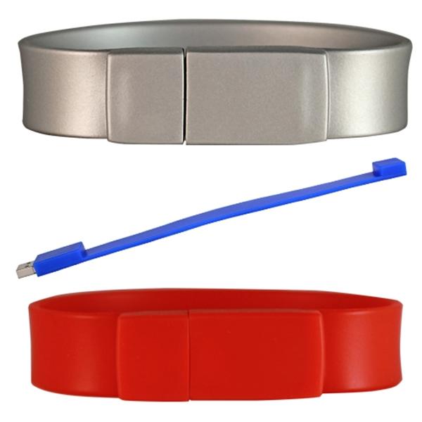 Silicone Wristband Thick Flash Drive
