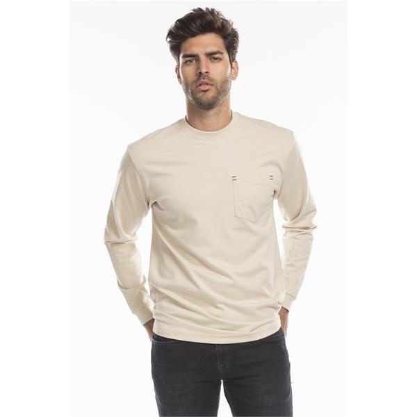 US Blanks Men's Flame Resistant Long Sleeve Pocket T-Shirt