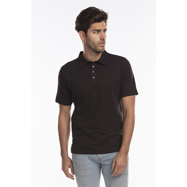 US Blanks Men's Jersey Interlock Polo T-Shirt