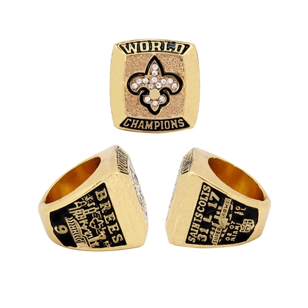 Replica Championship Ring Shiny Gold