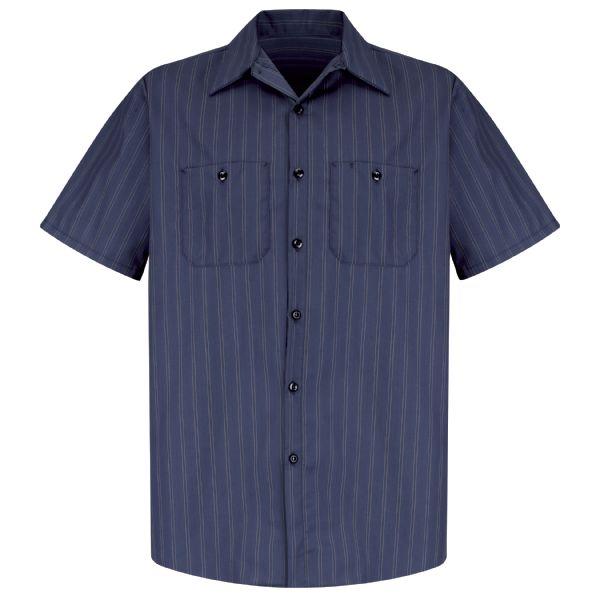 Red Kap Men's Striped Industrial Work Shirt