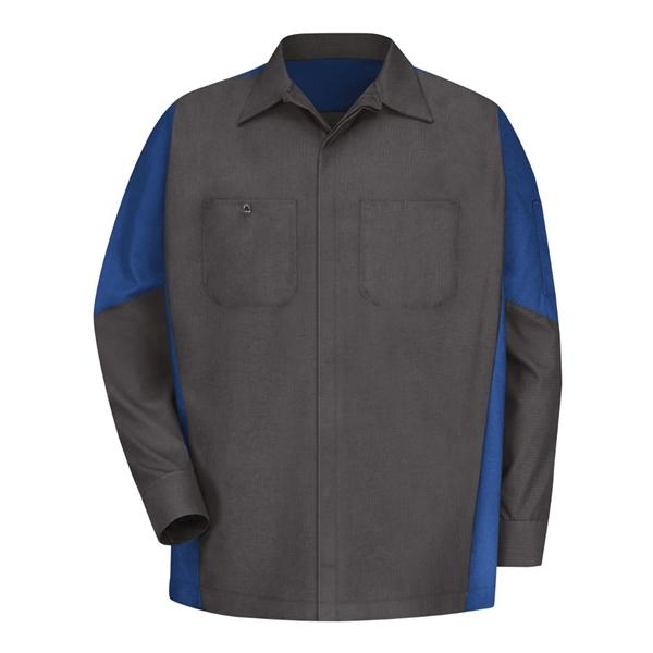 Red Kap Long Sleeve Automotive Crew Shirt - Long Sizes
