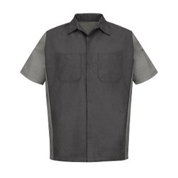 Red Kap Short Sleeve Automotive Crew Shirt - Long Sizes