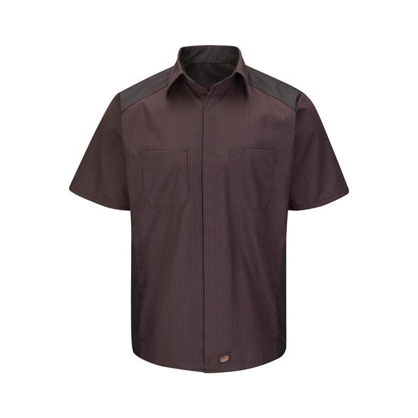 Red Kap Short Sleeve Striped Color Block Shirt