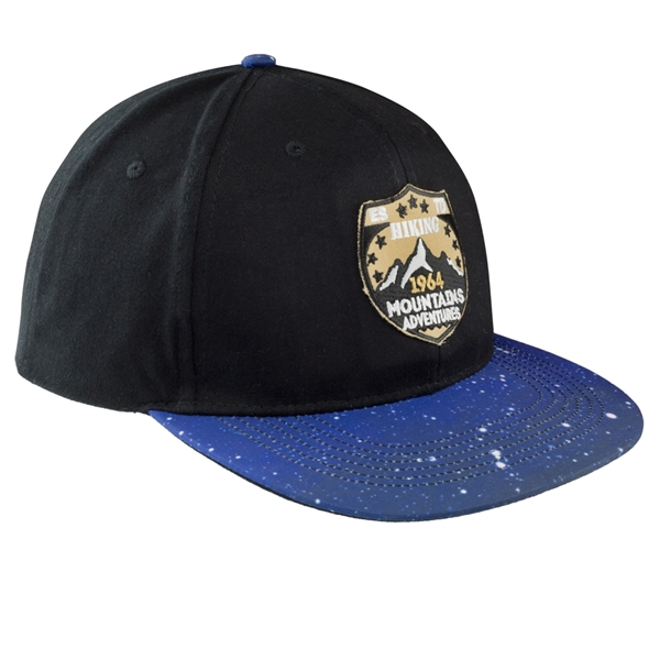 Galaxy Flat-Bill Baseball Caps