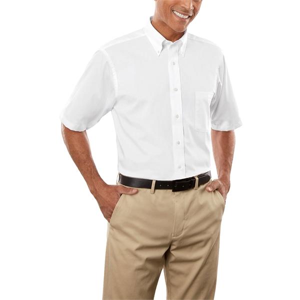 Van Heusen Men's Twill Short Sleeve Dress Shirt