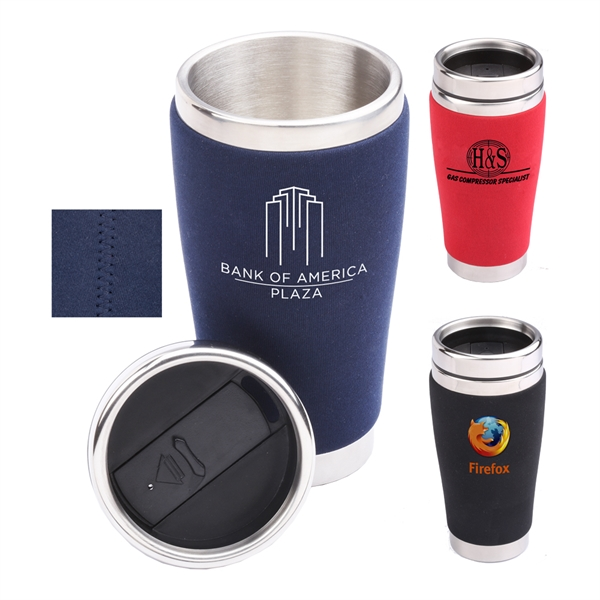 Allure  16 Oz Stainless Steel Tumbler With Neoprene