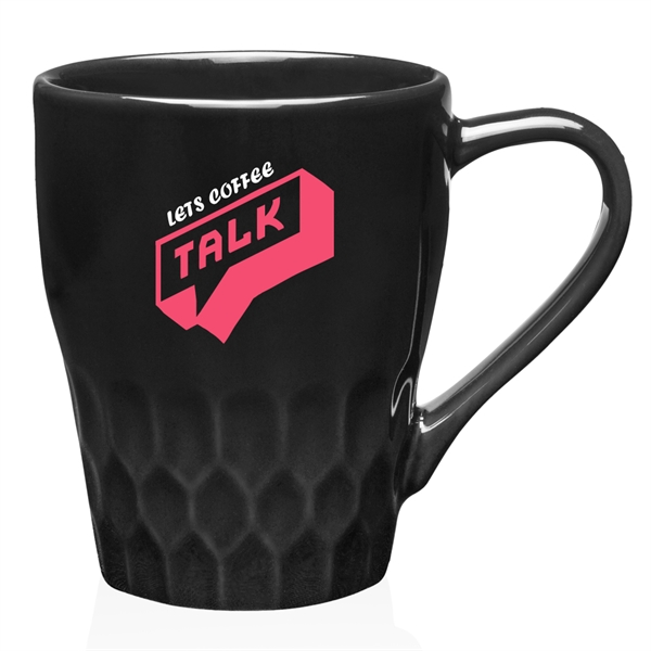 13 oz Diamond Cut Ceramic Mug