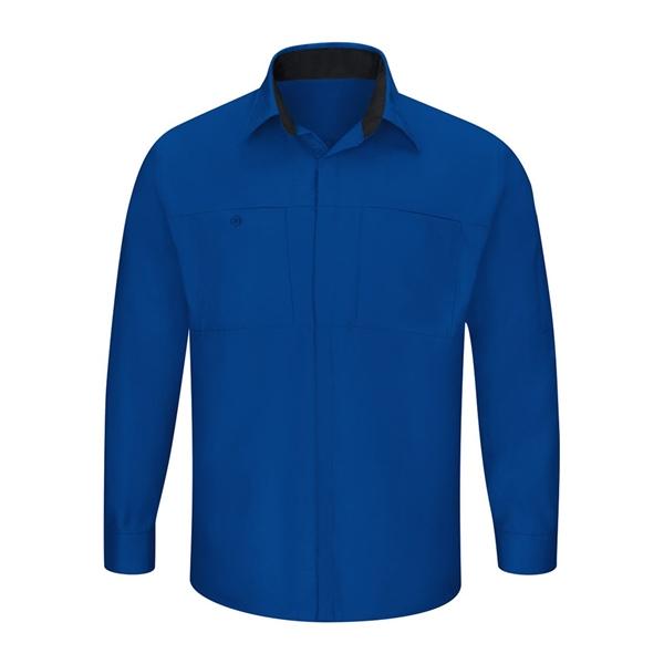 Red Kap Performance Plus Long Sleeve Shirt with OilBlok T...