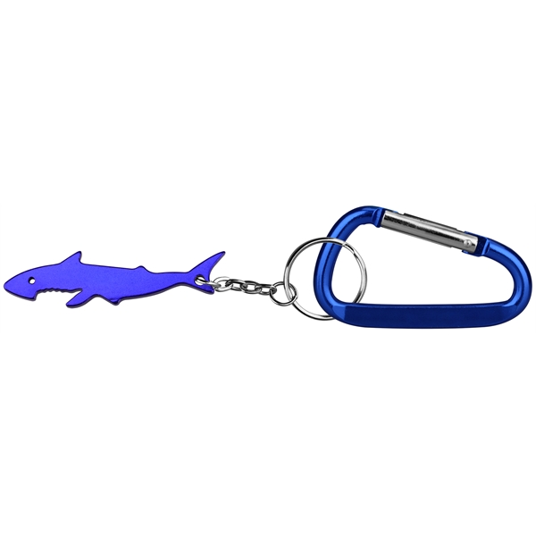 Shark shape keychain with carabiner