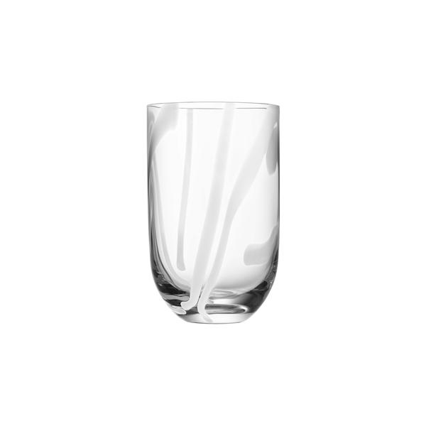 Kosta Boda Contrast Tumbler (white)