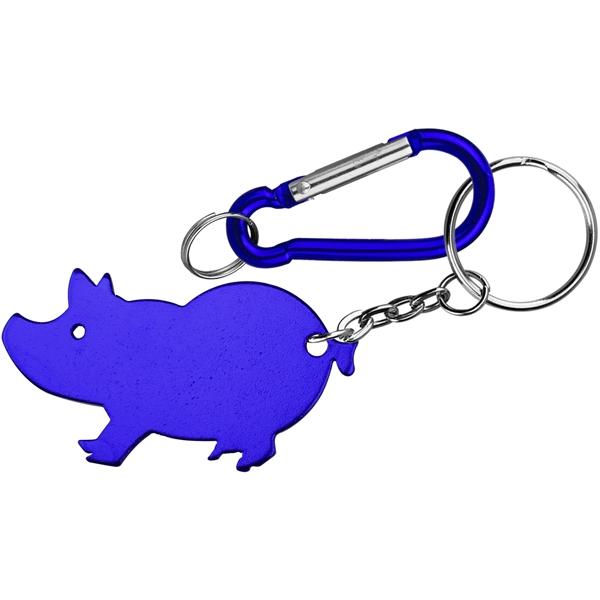 Juinmbo Size Pig Shape Aluminum Bottle Opener with Caraber