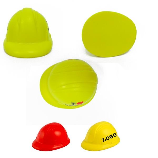 "Hard Hat Stress Reliever, Safety Helmet PU Ball """