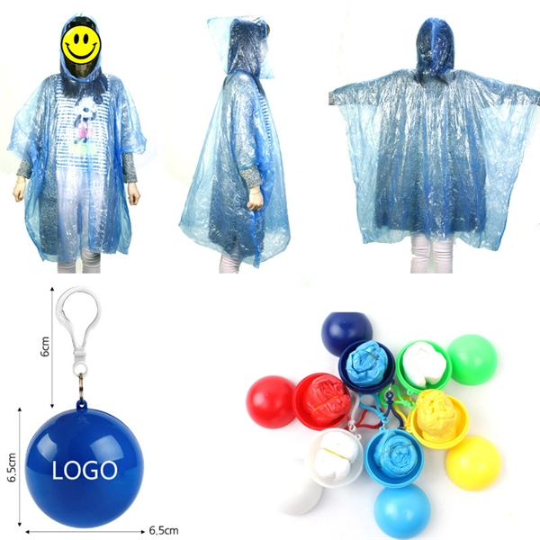 Disposable Raincoat Ball With Keyring
